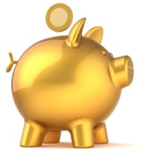 Gold Piggy Bank, Investment Insurance Cover with Campion Insurance Ireland