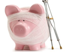 Piggy Bank with a Bandage, Life Insurance Cover with Campion Insurance Ireland