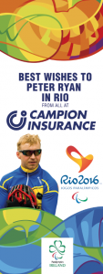Best of Luck to Peter Ryan as he competes in Rio Paralympics 2016